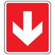 Fire Safety Sign - Fire Arrow Down 013